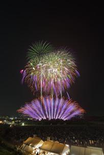 常総きぬ川花火大会の写真素材 [FYI04504362]