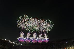常総きぬ川花火大会の写真素材 [FYI04504374]