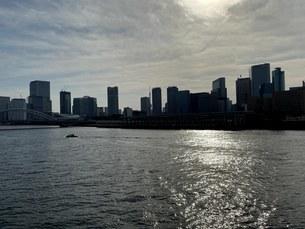 勝どき橋から築地大橋の眺めの写真素材 [FYI04504641]