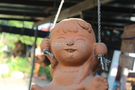 にっこにこ  アジア(タイ)の大衆食堂の店先にての写真素材 [FYI04504804]