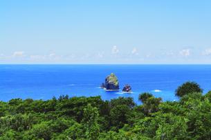 小笠原諸島 母島より四本岩を望むの写真素材 [FYI04505290]