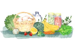 食材の水彩画のイラスト素材 [FYI04505472]