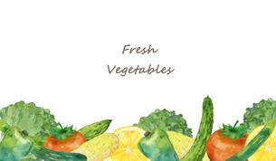野菜のフレームのイラスト素材 [FYI04506115]