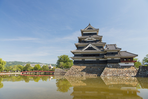 国宝 松本城の写真素材 [FYI04507396]