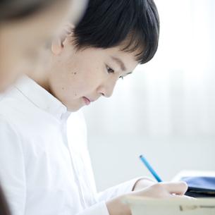 授業を受ける男子学生の写真素材 [FYI04507428]