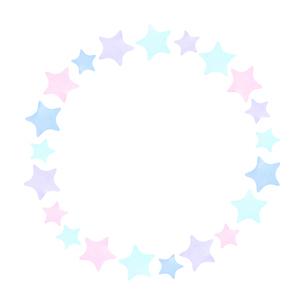パステルカラー星のフレームのイラスト素材 [FYI04508126]