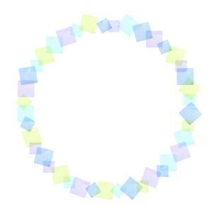 パステルカラー四角のフレームのイラスト素材 [FYI04508127]