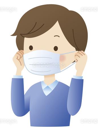 マスクをする男性のイラスト素材 [FYI04508497]