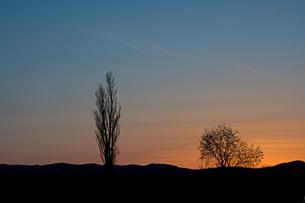 美しい夕暮れの空の写真素材 [FYI04510002]