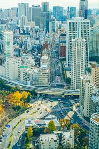 東京タワー展望台から見える東京の街並みの写真素材 [FYI04510089]
