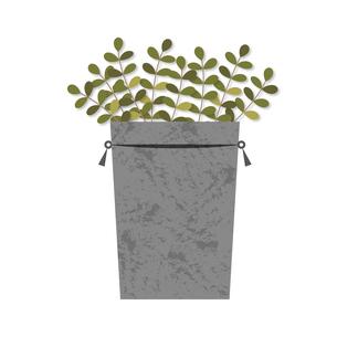 ブリキの缶と植物のイラスト素材 [FYI04510168]
