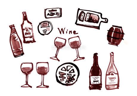 ワインのイラスト素材 [FYI04510339]