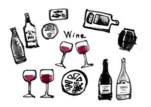 ワインのイラスト素材 [FYI04510343]