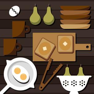 朝食準備のイラスト素材 [FYI04510651]