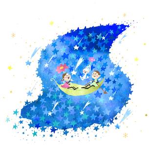 流星群の夜のイラスト素材 [FYI04510822]