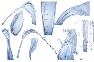 水しぶき、グラフィク素材各種の写真素材 [FYI04511140]