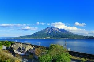 仙巌園と桜島の写真素材 [FYI04512240]