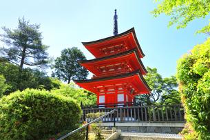 世界文化遺産 清水寺子安塔の写真素材 [FYI04512257]