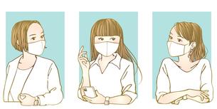 マスク女子のイラスト素材 [FYI04512553]