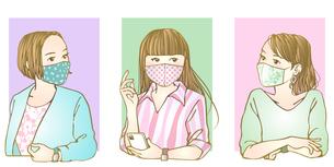 おしゃれマスク女子のイラスト素材 [FYI04512554]