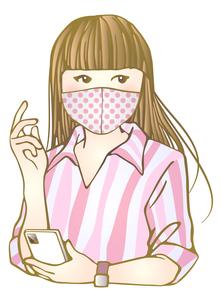 おしゃれマスク女子のイラスト素材 [FYI04512556]