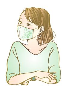 おしゃれマスク女子のイラスト素材 [FYI04512557]