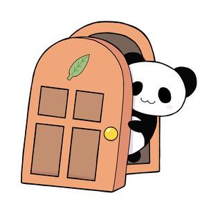 パンダの扉のイラスト素材 [FYI04512590]