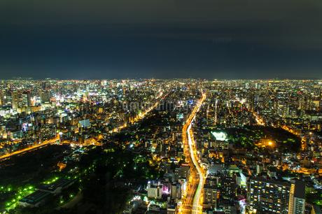 あべのハルカスから見た大阪の夜景の写真素材 [FYI04513404]