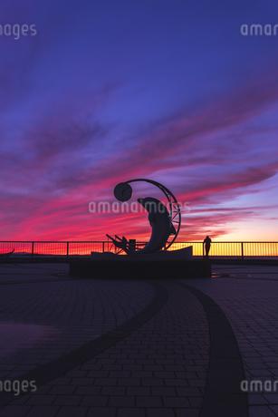 ノシャップ岬の夕焼けの写真素材 [FYI04514302]