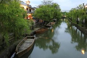倉敷美観地区の夕景の写真素材 [FYI04515089]