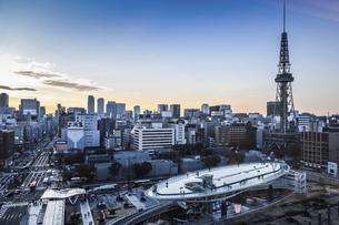 名古屋栄より名古屋駅周辺高層ビル群を望むの写真素材 [FYI04515366]