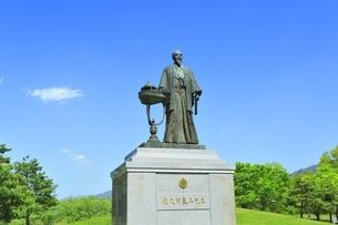 八幡原史跡公園 佐久間象山の像の写真素材 [FYI04517119]