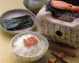 鱈子と海苔の朝食の写真素材 [FYI04518099]