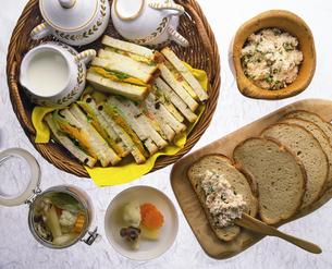 サンドイッチとタラモサラダの写真素材 [FYI04518220]