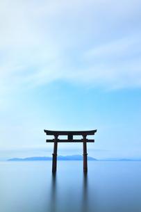 琵琶湖に白髭神社の大鳥居の写真素材 [FYI04518273]