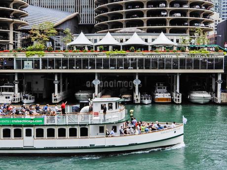 シカゴ遊覧船のある風景の写真素材 [FYI04522510]