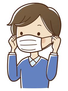 マスクをする男性のイラスト素材 [FYI04522861]