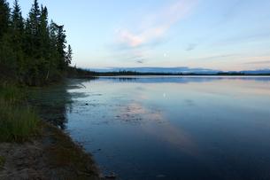 月影が映るアラスカの湿地帯の写真素材 [FYI04523140]