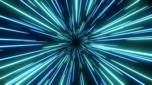 Blue speed light abstract background. Sci-fi tunnel backdrop.のイラスト素材 [FYI04523487]