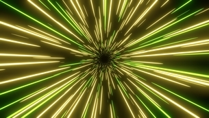Yellow and green speed light abstract background. Sci-fi tunnel backdrop.のイラスト素材 [FYI04523616]