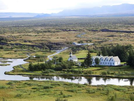 アイスランド、シンクヴェトリル国立公園の写真素材 [FYI04523636]