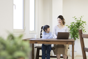 自宅で仕事をする妊婦さんの写真素材 [FYI04523934]