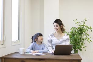 自宅で仕事をする妊婦さんの写真素材 [FYI04523936]