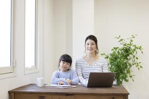自宅で仕事をする妊婦さんの写真素材 [FYI04523937]