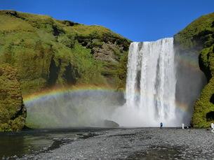 アイスランド、スコウガフォス(滝)の写真素材 [FYI04525614]