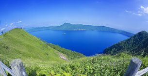 北海道 自然 風景 摩周湖の写真素材 [FYI04526556]