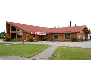 アラスカ州トックのビジターセンターの写真素材 [FYI04526702]
