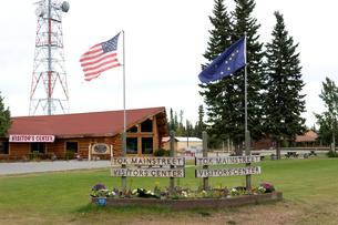 アラスカ州トックのメインストリートの写真素材 [FYI04526703]