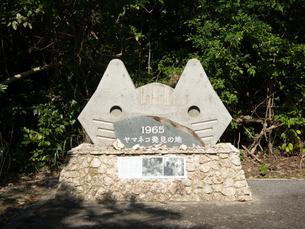 西表島 イリオモテヤマネコ発見の碑の写真素材 [FYI04526953]