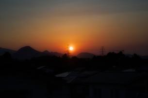 夕焼けの写真素材 [FYI04527529]